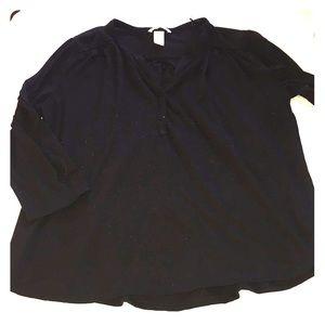 Black Quarter Button Shirt
